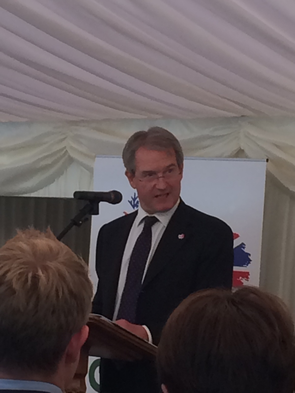 The Rt Hon Owen Paterson MP, Secretary of State for Environment, Food and Rural Affairs, addresses the launch event.